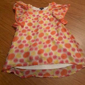 George pink orange circle geometric shirt as M 7-8